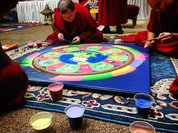 Process Of Sand Mandala At Nd 2013